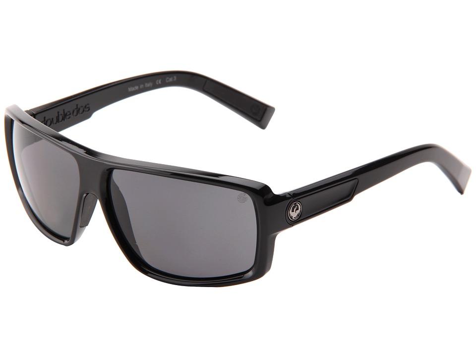 Dragon Alliance Double Dos Jet/Grey P2 Sport Sunglasses