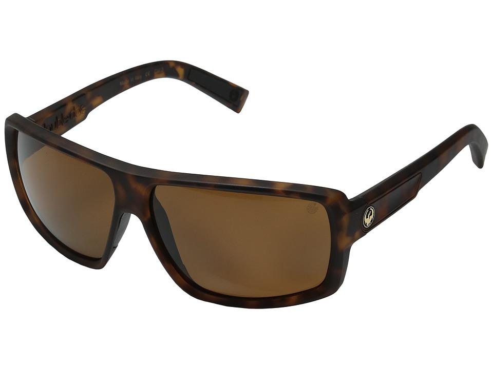 Dragon Alliance Double Dos Matte Tortoise/Bronze P2 Sport Sunglasses