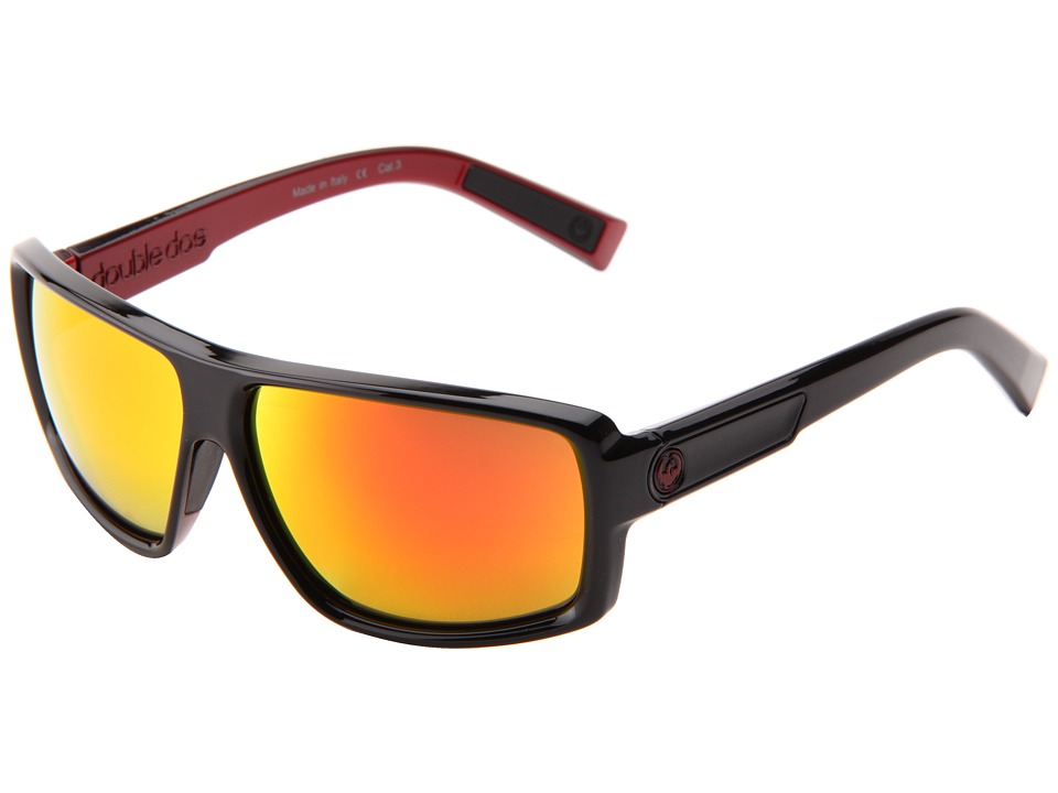 Dragon Alliance Double Dos Jet/Red Ion Sport Sunglasses