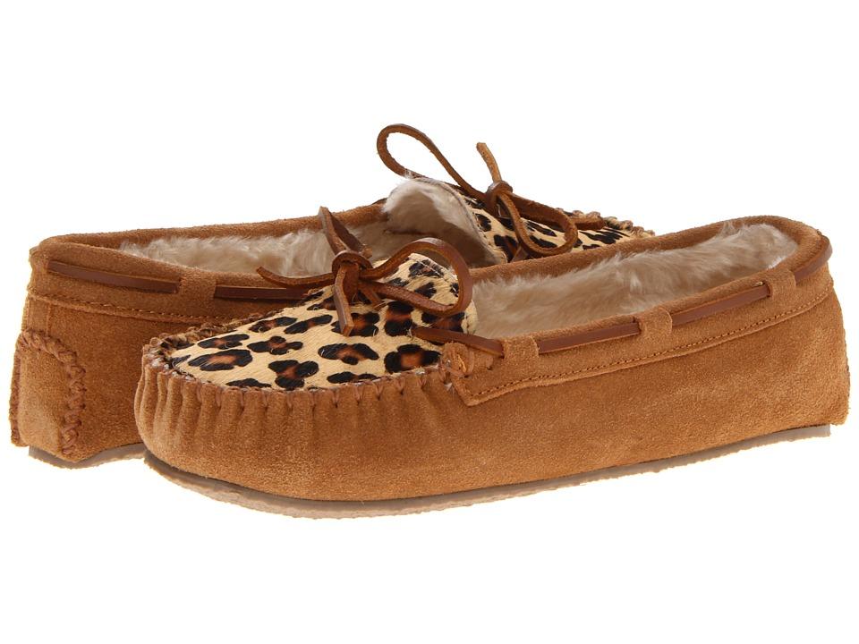 Minnetonka Leopard Cally Slipper (Cinnamon Suede) Women's...