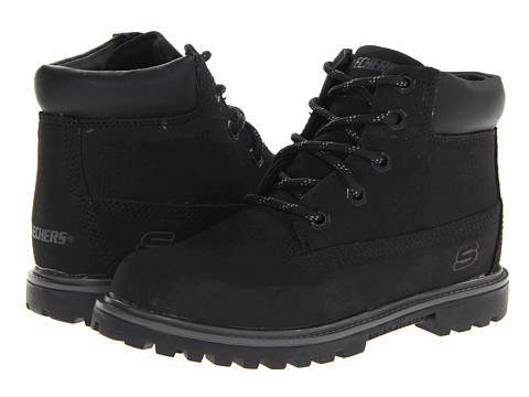 SKECHERS KIDS Mecca - Bunkhouse 93158L (Little Kid/Big Kid) - Black