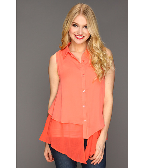 Gabriella Rocha - Reta Sleeveless Blouse (Coral) - Apparel