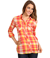 C&C California - Checkered Plaid Roll Sleeve Shirt