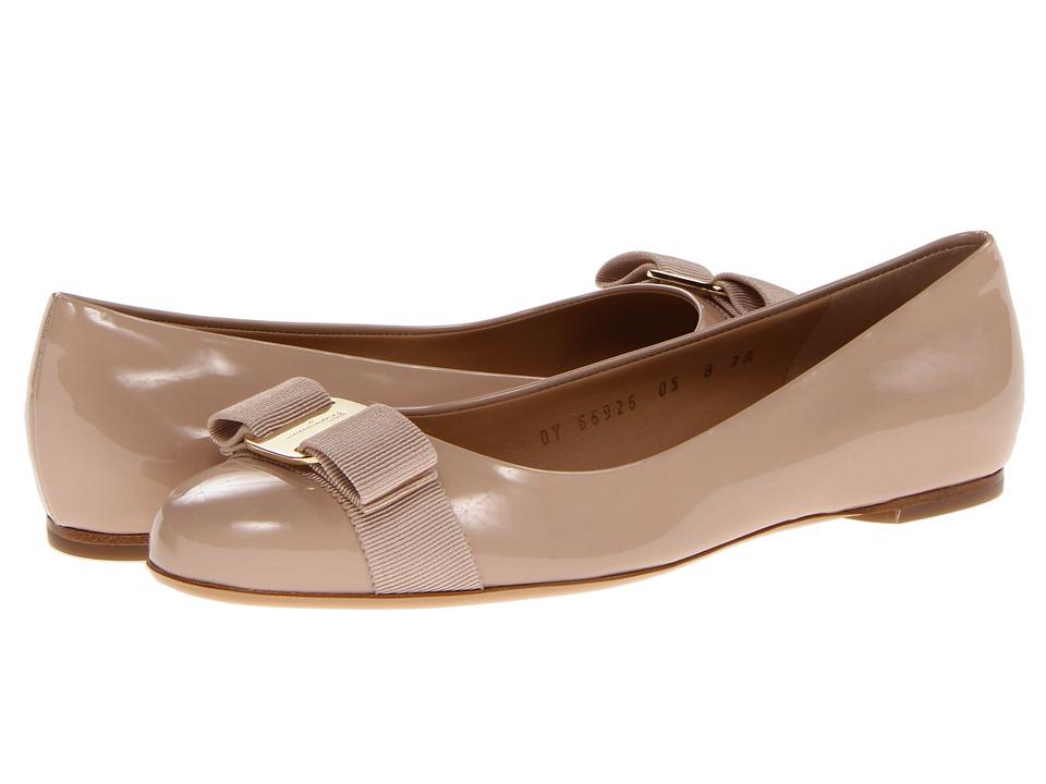 Salvatore Ferragamo Varina (New Bisque Patent) Slip-On Shoes