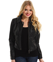 dollhouse - Butter Touch PU Jacket Zip Front w/ Snap Placket