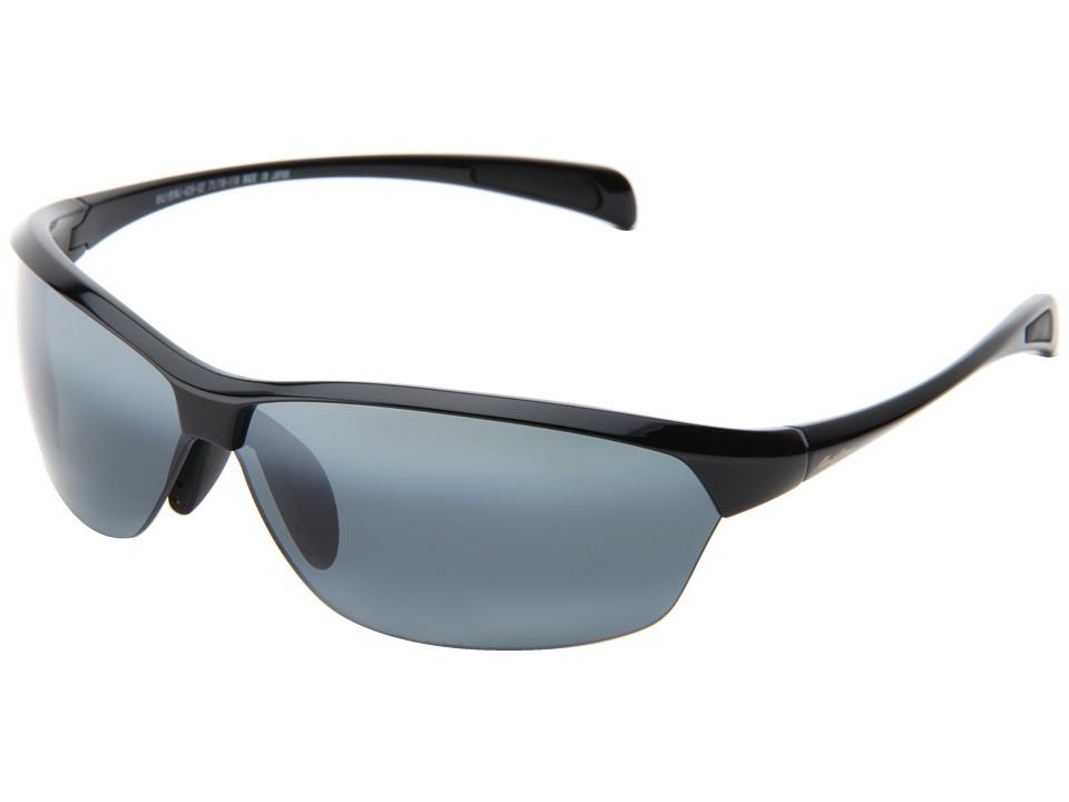 Maui Jim Hot Sands (Gloss Black/Neutral Grey) Plastic Fra...