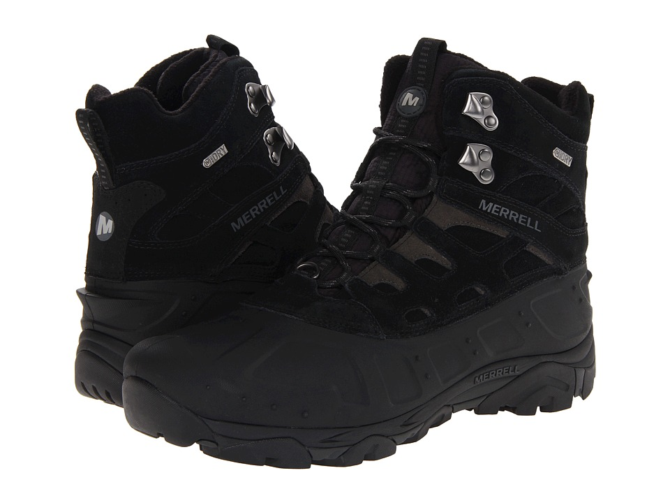 Merrell - Moab Polar Waterproof (Black) Men
