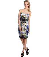 Maggy London - Strapless Mirror Printed Satin Dress