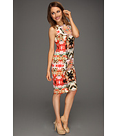 Maggy London - Sleeveless Mirror Printed Scuba Sheath Dress