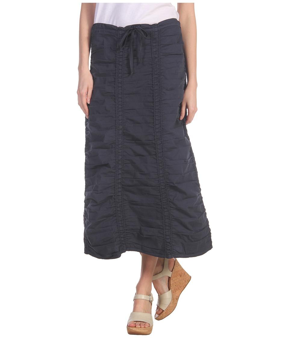 XCVI Stretch Poplin Double Shirred Panel Skirt (Anchor Navy) Women