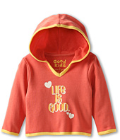 Life is good Kids - Girls' Baby Terry Hoodie LIG Hea (Infant)