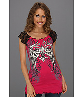 Rock and Roll Cowgirl - Lace Sleeve T-Shirt