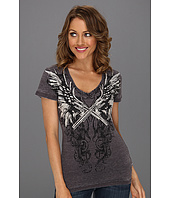 Rock and Roll Cowgirl - V-Neck Printed Tee