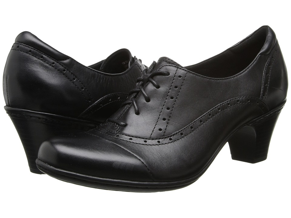 Cobb Hill - Sheila Black Womens Lace up casual Shoes $109.99 AT vintagedancer.com