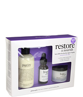 Philosophy - restore & nourish dry skin kit