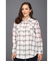 Stetson - Plus Size Heather Ombre Y/D Lawn Shirt