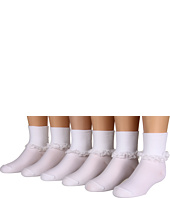 Jefferies Socks - Prissy Miss Lace 6-Pack (Infant/Toddler/Youth)