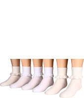 Jefferies Socks - Eyelet Lace and Chantilly Lace 6-Pack (Toddler/Little Kid/Big Kid)