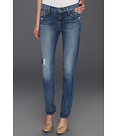 7 For All Mankind - Slim Cigarette in Light Blue Distressed