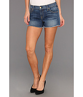 7 For All Mankind - Cut Off Short in Light Blue Distressed