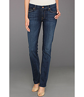 7 For All Mankind - Kimmie Straight w/ Contoured Waistband in Washed Medium Indigo