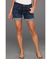 7 For All Mankind - Mid Roll-Up Short in Washed Medium Indigo