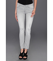 7 For All Mankind - Slim Cigarette in Light Grey Destroy