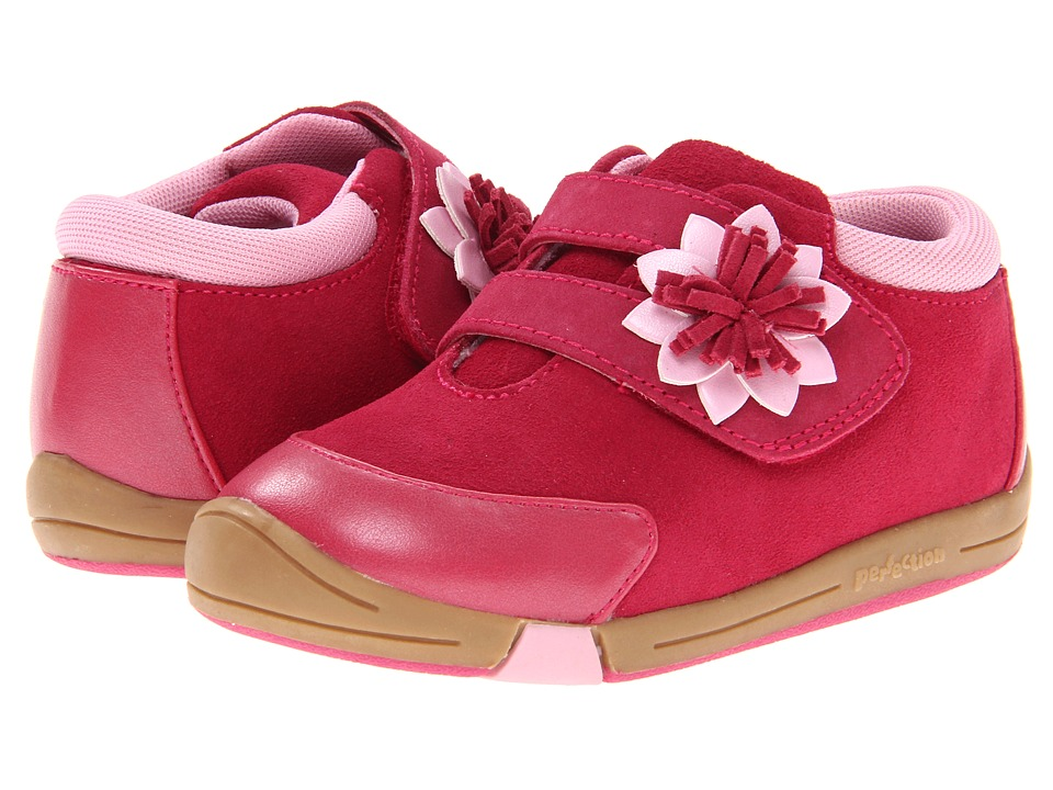 Jumping Jacks Kids Baby Flower Toddler Hot Pink Suede Girls Shoes