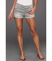 7 For All Mankind - Relaxed Mini Roll-Up Short in Light Grey Destroy