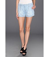 7 For All Mankind - Pleated Short in Lightweight Tencel Denim