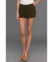 7 For All Mankind - Pleated Short in Olive Drapey Twill