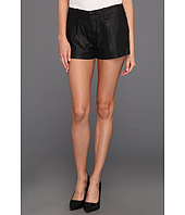 7 For All Mankind - Pleated Short in Coated Black