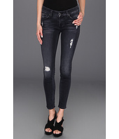 7 For All Mankind - The Skinny in Slim Illusion Blue Black Destroyed