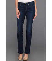7 For All Mankind - Kimmy Straight w/ Contoured Waistband in Radiant Medium Blue
