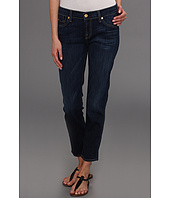 7 For All Mankind - Crop Slim Cigarette in Radiant Medium Blue