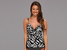 Miraclesuit - Modern Love Roswell Tankini Top (Black/White) - Apparel