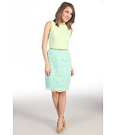 Maggy London - Colorblock Lace Sheath Dress