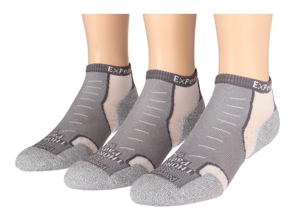 Thorlos Experia Micro Mini 3 pair Pack Greyhound Grey Low Cut Socks Shoes