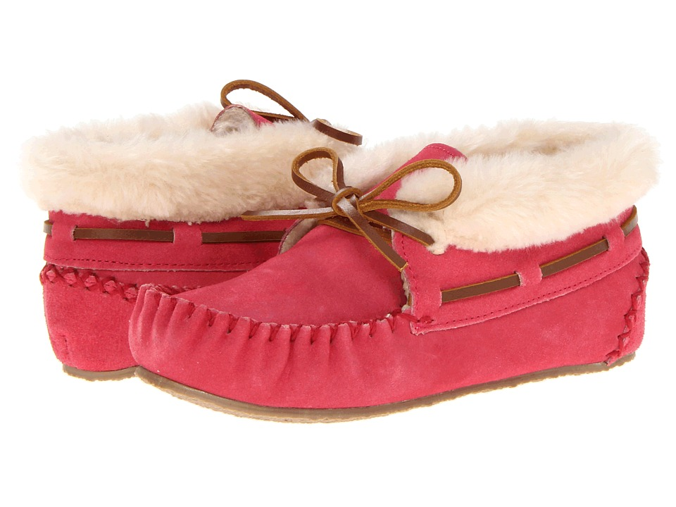 Minnetonka Kids - Charley Bootie (Toddler/Little Kid/Big Kid) (Hot Pink Suede) Girls Shoes