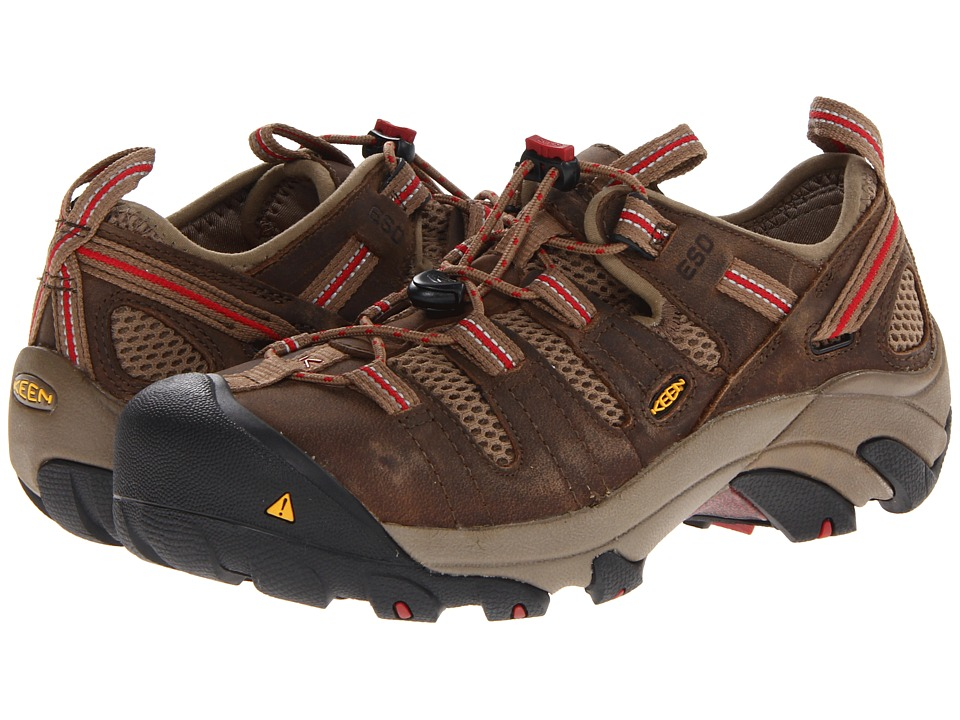 Keen Utility Atlanta Cool ESD Shitake/Chili Pepper Womens Work Boots