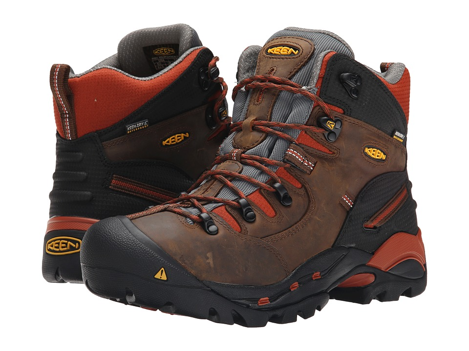 Keen Utility - Pittsburgh Soft Toe (Cascade Brown/Bombay Brown) Mens Work Boots