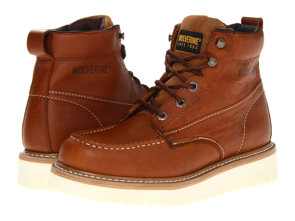 Wolverine - Moc Toe Wedge (Brown) Mens Work Boots