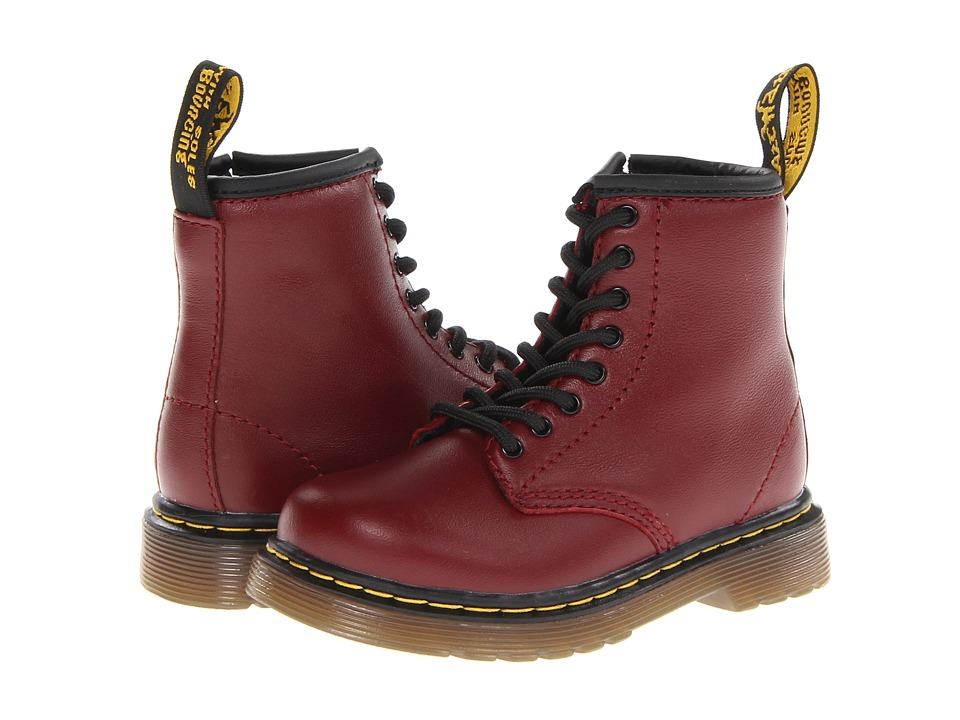 Dr. Martens Kids Collection Brooklee 8 Eye Boot Toddler Cherry Red Softy T Kids Shoes