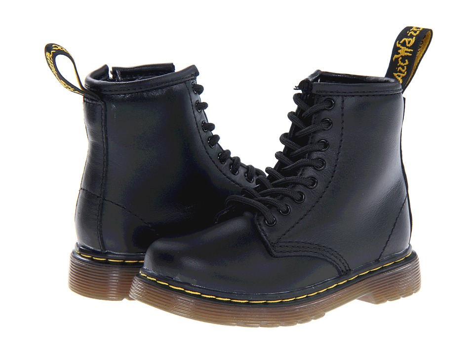 Dr. Martens Kids Collection Brooklee 8 Eye Boot Toddler Black Softy T Kids Shoes