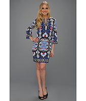 Laundry by Shelli Segal - Mykonos Border Printed Dress
