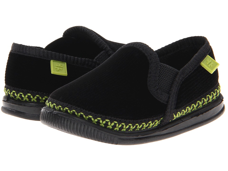 Foamtreads Kids - Innsbruck (Toddler/Little Kid/Big Kid) (Black/Green) Kids Shoes