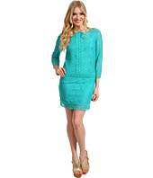 Laundry by Shelli Segal - 3/4 Sleeve Drop Waist Lace Dress