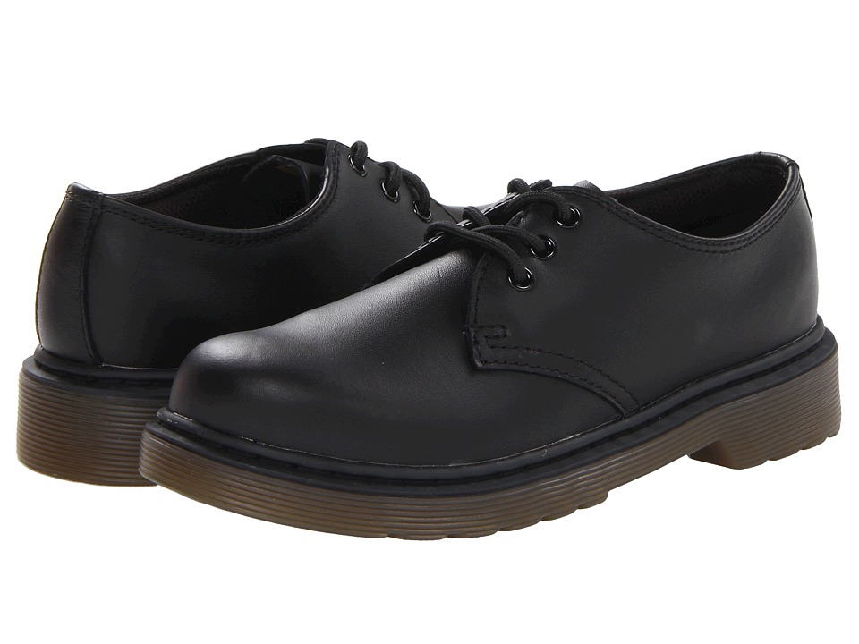 Dr. Martens Kid's Collection Everley Lace Shoe (Little Kid/Big Kid) (Black Softy T) Kids Shoes
