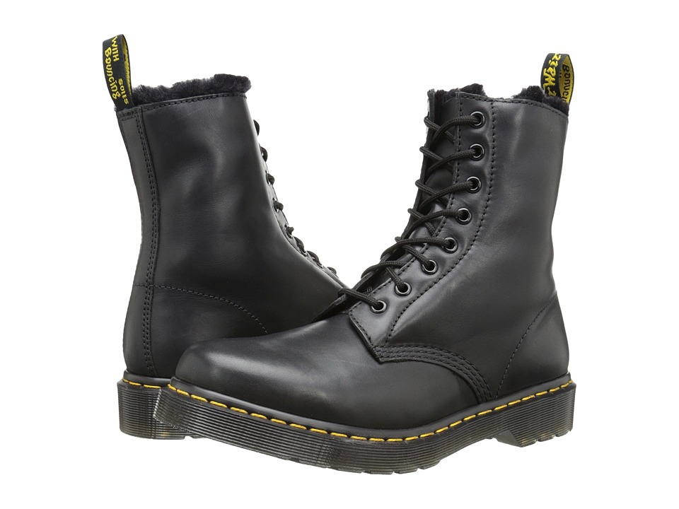 Dr. Martens Serena 8 Eye Boot Black Cartegena Womens Lace up Boots