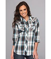 Roper - 8858 Brown & Turquoise Plaid